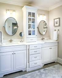 double sink vanity with middle tower double vanity with tower white double vanity with black double sink