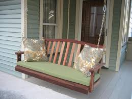 Clearance Patio Furniture Cushions by Furniture Using Comfy Porch Swing Cushions For Cozy Outdoor