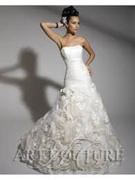 fishtail wedding dress couture ac290 fish dress ruffled skirt ivory silver
