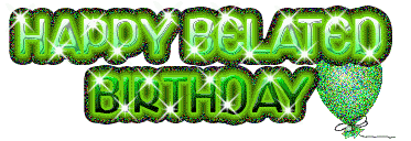 happy green color belated birthday wishes pictures