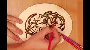 Easy Wood Burning Patterns Free by How To Burn A Pattern Of A Flower On Wood Youtube