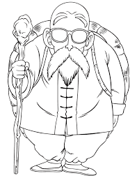 dragon ball master roshi coloring u0026 coloring pages