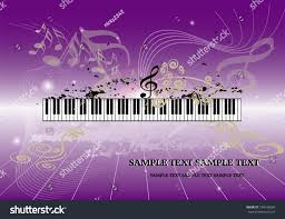 music background key notes piano keyboard stock vector 104430560