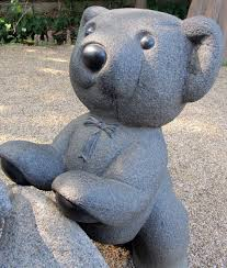 free images play cute stone statue blue material teddy