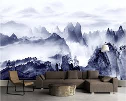 online buy wholesale mountains wall mural from china mountains beibehang custom wallpaper clouds mighty great walls mosaic mountain water view landscape living room sofa background
