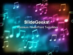bokeh effect music powerpoint template 0610