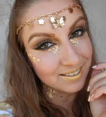 fotd golden goddess halloween makeup taya u0027s blog
