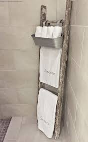 Where To Hang Towels In Small Bathroom Best 25 Rustic Ladder Ideas On Pinterest Decorative Ladders