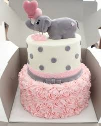 baby girl themes for baby shower baby shower decoration cake ideas elephant theme white