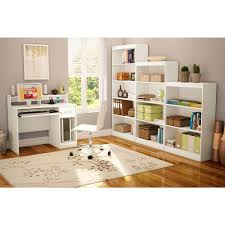 White Desk With Hutch Ikea South Shore Axess Pure White Desk With Hutch 7250076c The Home Depot