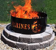 gas fire pit ring marines metal fire ring fire pit gift military