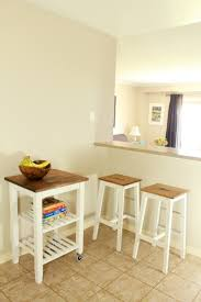 picture of diy ikea bosse stools and bekvam kitchen cart hacks 1