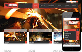 the factory a industrial mobile website template by w3layouts