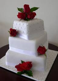 red roses wedding cake designs vintage tier wedding cake with red