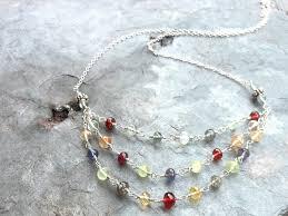 multi stone necklace images Semi precious gemstone necklace statement necklace multi stone JPG