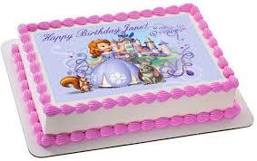 sofia the birthday sofia the edible birthday cake or cupcake topper edible