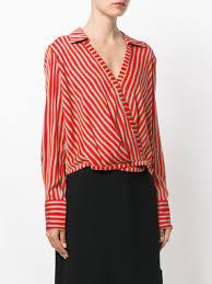 dvf blouse dvf diane furstenberg striped wrap blouse farfetch