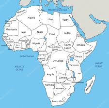 mapa de africa africa vector map stock vector pavalena 16349841