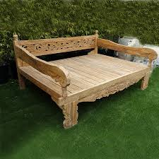 Bench With Rolled Arms Check Out Our Daybeds At Mix Furniture Balinese Teak Carved