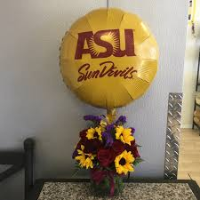 bae flowers and balloon at sunflower color cube asu balloon in tempe az delights