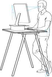 how i built an ergonomic adjustable standing desk for free