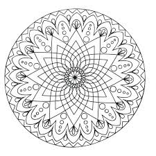 printable simple mandala coloring pages free pdf color easy