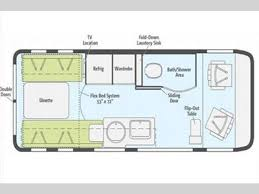 winnebago floor plans class c 2017 winnebago paseo 48p class b pensacola fl carpenters campers