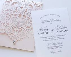 wedding invitations lace lace wedding invitations etsy