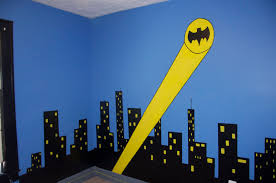 Bedroom Wall Mural Paint Bedroom Batman And Spiderman Inspired Bedroom Decorating Ideas