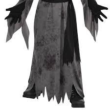 teen boys ghastly ghoul ghost demon halloween mask robe belt fancy