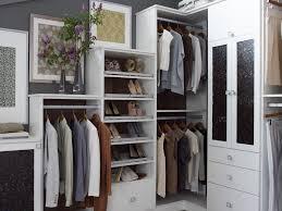 contemporary closet with built in bookshelf by california closets