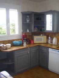 cuisine rustique repeinte en gris charmant peindre une cuisine en gris avec cuisine relookee grise