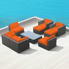 Wicker Patio Furniture Set - sofa sets modern sofas belizo ceres 9 pcs wicker patio furniture