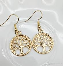 gold earrings for women images gold silver plated tree of earrings women fashion tree