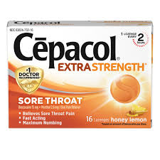 Seeking Honey Sore Throat Honey Lemon Lozenges Cēpacol