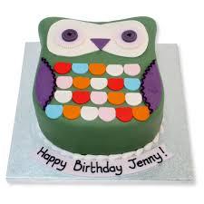 owl cake shabby chic owl cake birthday cakes the cake store