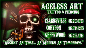 ageless art tattoo and piercing clarksville in clarksville the