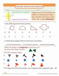 Similar And Congruent Figures Worksheet Symmetry And Congruence Worksheet Education Com