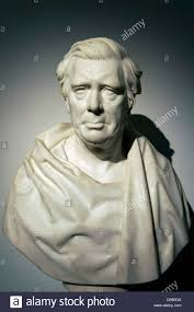marble portrait bust of victorian artist david cox by peter