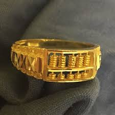 ring gold abacus ring gold 916 men s fashion accessories on carousell