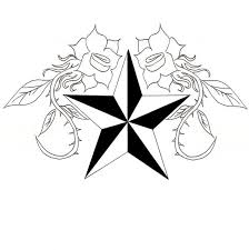 star tattoo in designs drawings and sketches by marco clip art