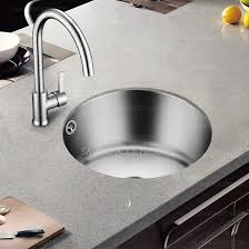 round stainless steel kitchen sink single round shape bowl stainless steel kitchen sinks include