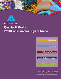2010 buehler consumables buyers guide by michelle klauke issuu