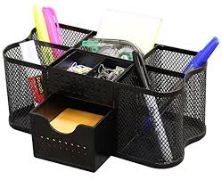 Organizer Desk Decobros Desk Supplies Organizer Caddy Black