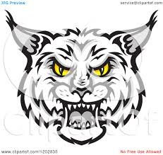 wildcat face clipart china cps