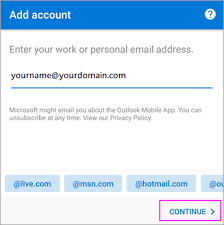 android outlook app set up email in the outlook for android app office support