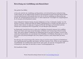 Praktikum Absage Vorlage Bauzeichner Bewerbung Um Einen Ausbildungsplatz Bewerbungsforum