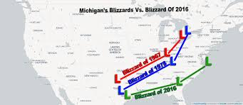 Howell Michigan Map by Michigan U0027s Biggest Blizzards Vs Blizzard 2016 Which Was The