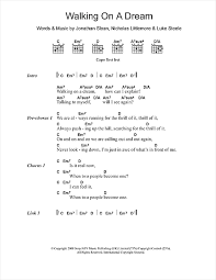 walking on a sheet by empire of the sun lyrics chords