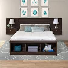 Wood Bed Frame With Shelves Best 25 Floating Headboard Ideas On Pinterest Black Headboard